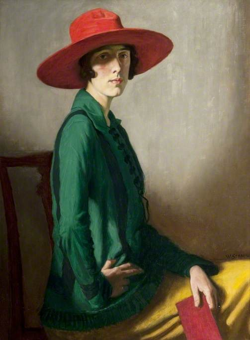 Lady with a Red Hat  8362e3cf8bf9
