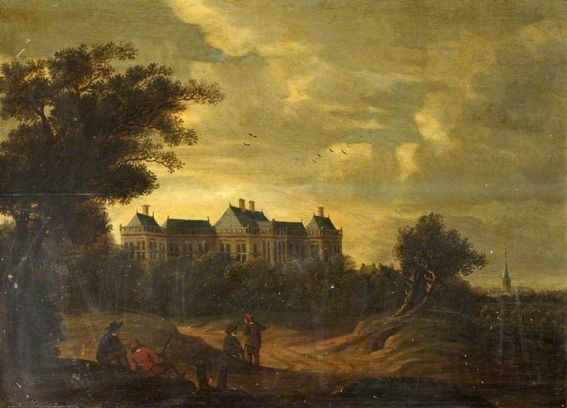 Landscape with rijswijk castle holland art uk