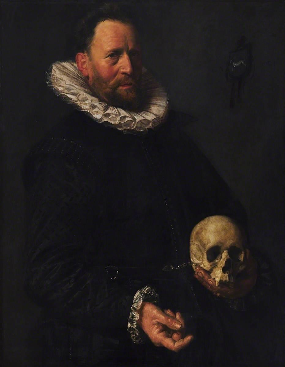 Portrait of a Man Holding a Skull | Art UK