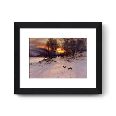 When the West with Evening Glows - Curator`s Choice framed print