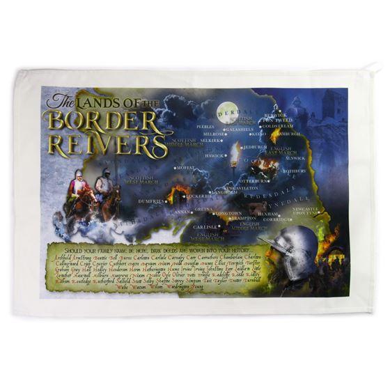 Border Reivers tea towel