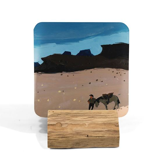 Kyffin Williams 'Man and Horse in Desert' coaster