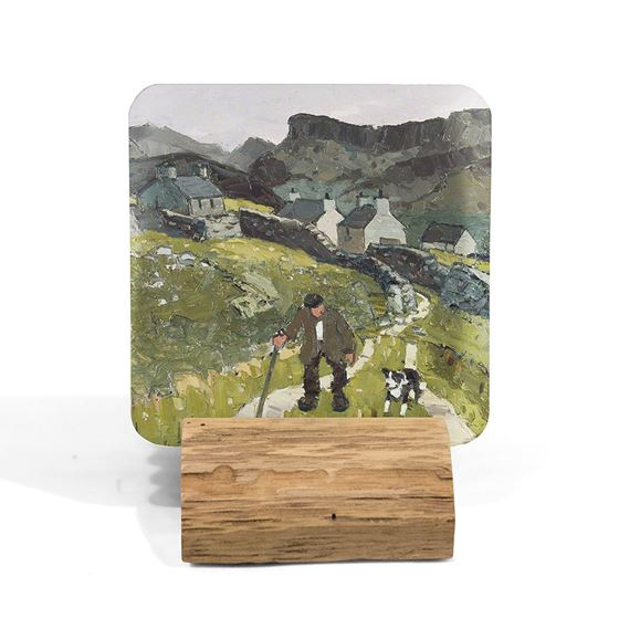 Kyffin Williams 'The Way to the Cottages' coaster