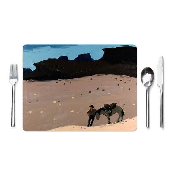 Kyffin Williams `Man and Horse in Desert` placemat