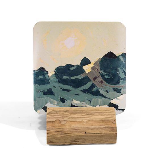 Kyffin Williams 'Mountain Landscape with High Sun' coaster