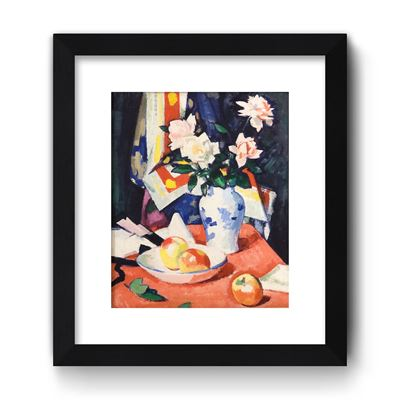 Roses and Still Life - Curator`s Choice framed print