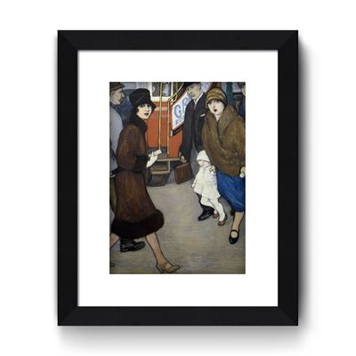 Crossing the Street - Curator`s Choice framed print