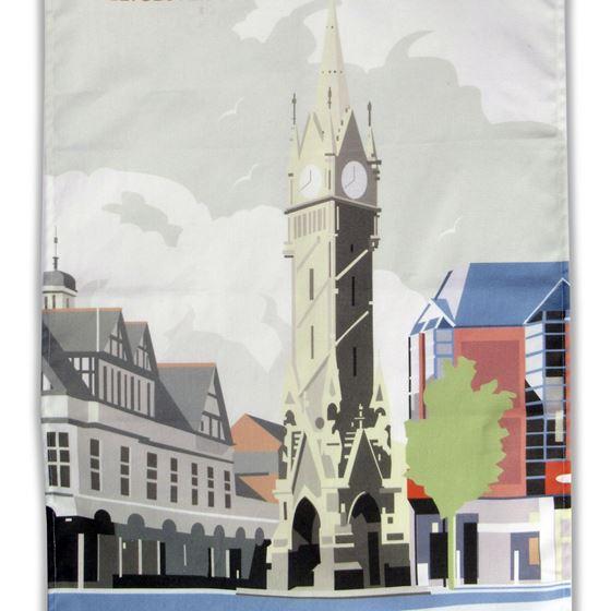 Leicester Clock Tower tea towel