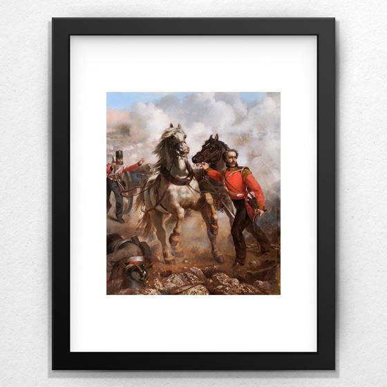 Captain E. W. D. Bell Winning His VC at the Alma - 20mm Frame