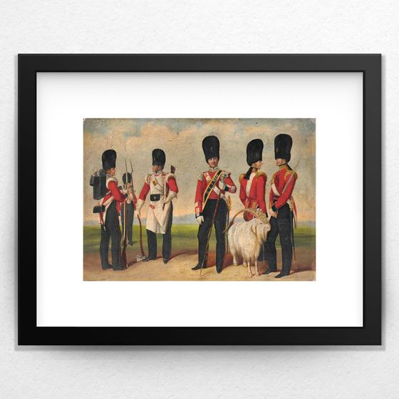 Group Painting including Drum Major Noble, c.1842 - 20mm Frame