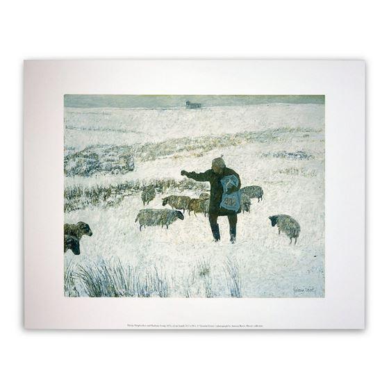 Sheep, Shepherdess and Harbour Craig