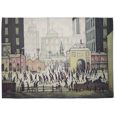 L. S. Lowry 'Coming from the Mill' (1930) tea towel