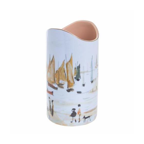 L. S. Lowry 'Yachts' (1959) vase