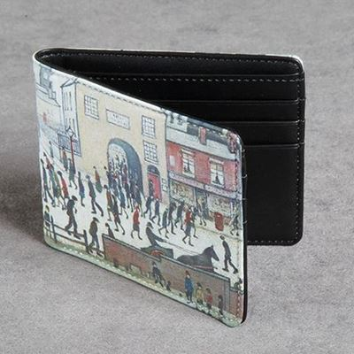 L. S. Lowry 'Coming from the Mill' (1930) leather wallet