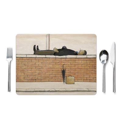 L. S. Lowry 'Man Lying on a Wall' (1957) placemat