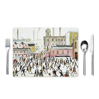 L. S. Lowry 'Going to Work' (1959) placemat