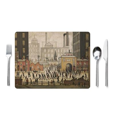 L. S. Lowry 'Coming from the Mill' (1930) placemat