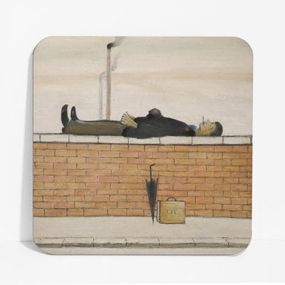 L. S. Lowry 'Man Lying on a Wall' (1957) coaster