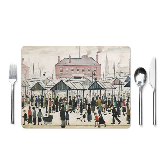 L. S. Lowry coasters and placemats – 6-piece set