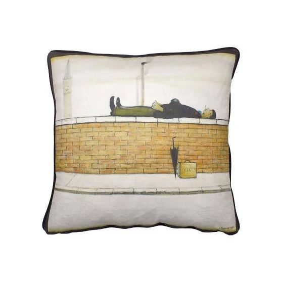 L. S. Lowry 'Man Lying on a Wall' (1957) cushion cover