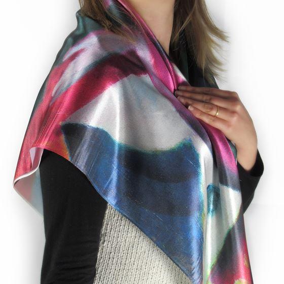 Red Woman 'Rote Frau' silk scarf