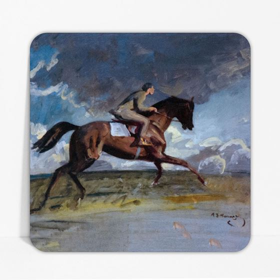 Alfred Munnings 'Going up the Canter, a Boy Exercising a Racehorse' coaster