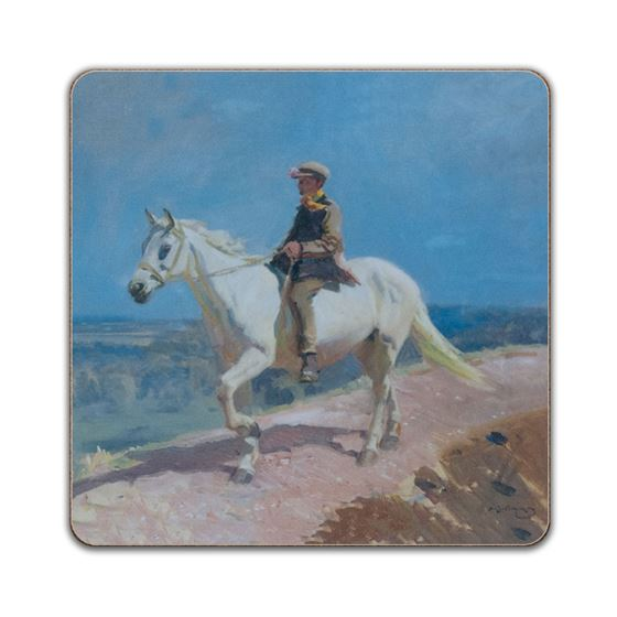 Alfred Munnings 'Shrimp on a White Welsh Pony' square placemat