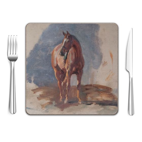 Alfred Munnings 'Study of a Bay Horse, Master, Bred by the Artist at Dedham' square placemat