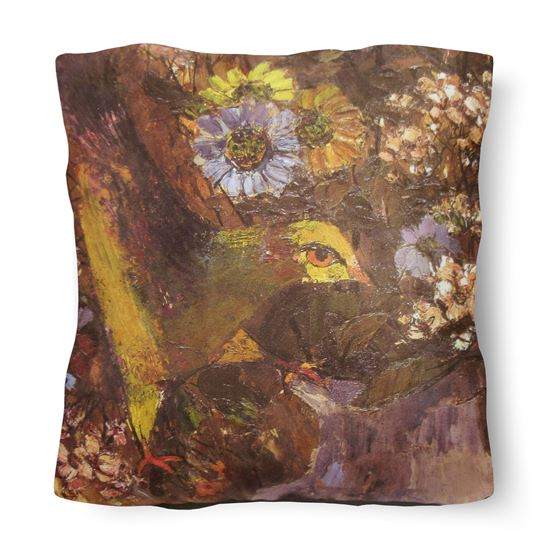 John Maxwell 'Figure and a Bird with a Jug of Flowers' cushion