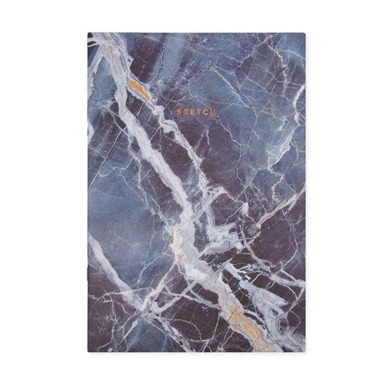 Blue marble print notebook