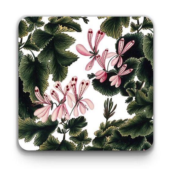 'An Ornamental Geranium' coaster