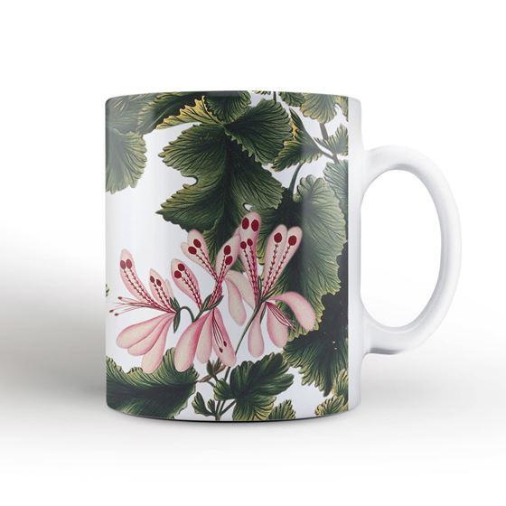 'An Ornamental Geranium' mug and coaster