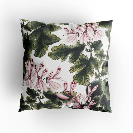 'An Ornamental Geranium' cushion