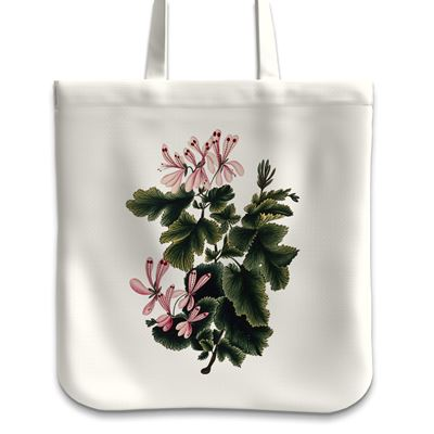 'An Ornamental Geranium' tote bag