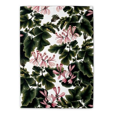 'An Ornamental Geranium' tea towel