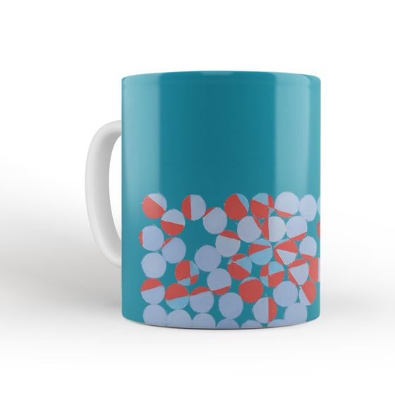 Wilhelmina Barns-Graham 'Development (Red and Turquoise)' mug