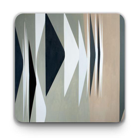 Wilhelmina Barns-Graham 'Expanding Forms Black and White' coaster