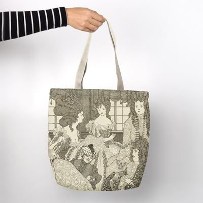 Aubrey Beardsley 'The Battle of the Beaux and the Belles' shopper