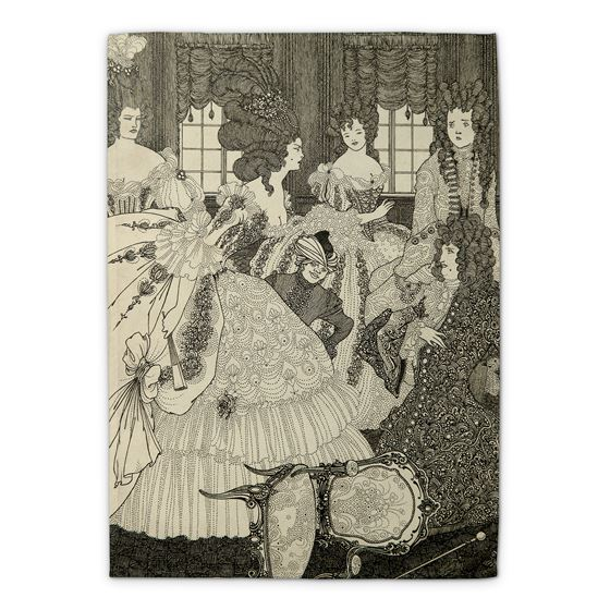 Aubrey Beardsley 'The Battle of the Beaux and the Belles' tea towel