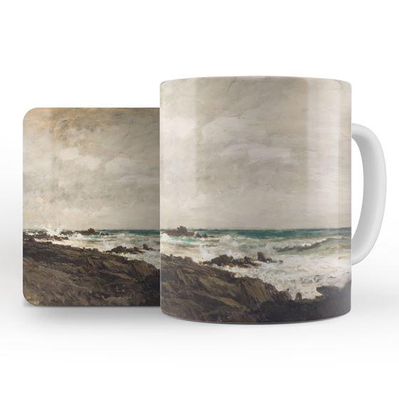 Charles-François Daubigny 'Seascape' mug and coaster