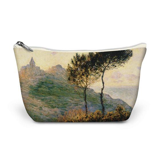 Claude Monet 'The Church at Varengeville' make-up bag