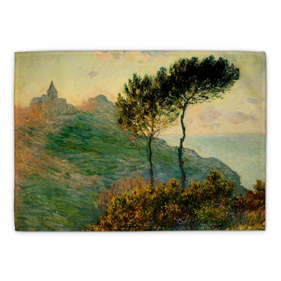 Claude Monet 'The Church at Varengeville' tea towel