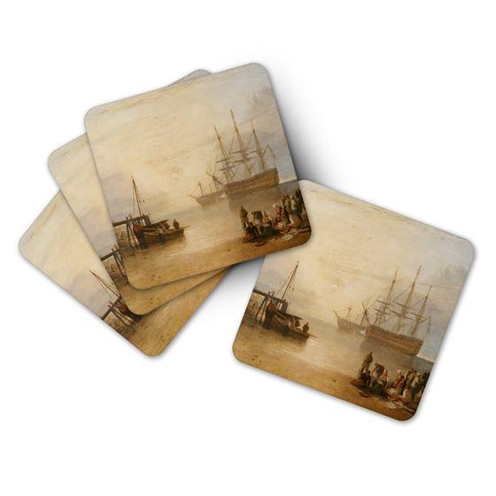 J. M. W. Turner 'The Sun Setting through Vapour' coasters – 4-piece set