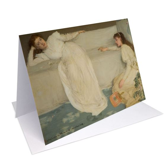 James Abbott McNeill Whistler 'Symphony in White, No. III' greetings card - A6