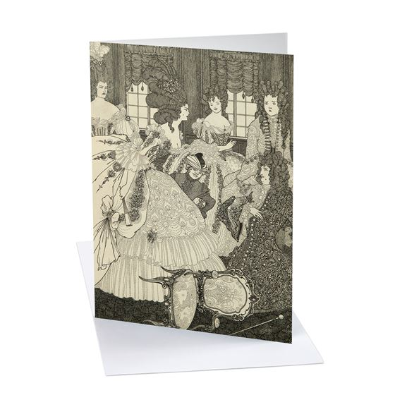 Aubrey Beardsley 'The Battle of the Beaux and the Belles' greetings card - A6