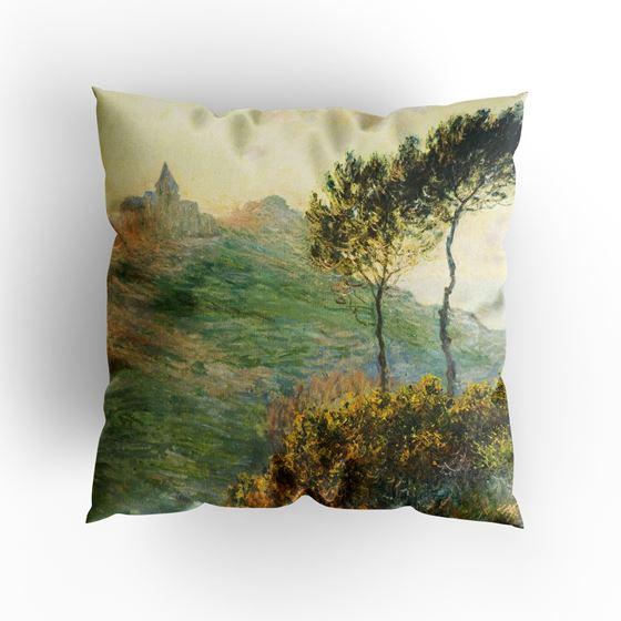 Claude Monet 'The Church at Varengeville' cushion