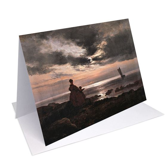 Johan Christian Clausen Dahl 'Mother and Child by the Sea' greetings card - A6