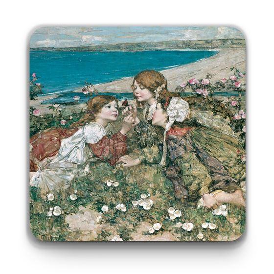 E. A. Hornel 'Seashore Roses' coaster