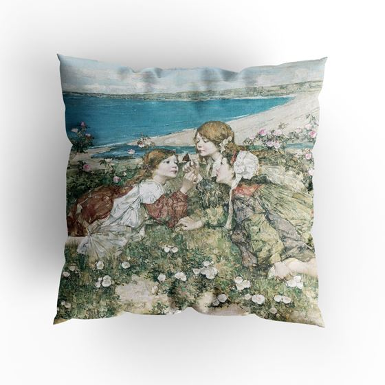 E. A. Hornel 'Seashore Roses' cushion