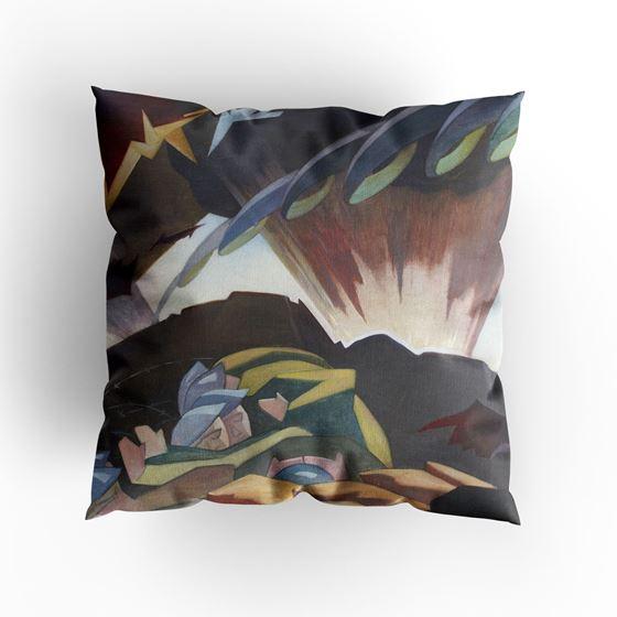 Eric Harald Macbeth Robertson 'Shellburst' cushion